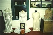 Antique wedding gowns.